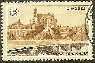 "France Timbre Stamp 1019 "" Limoges "" Oblitere Tb"