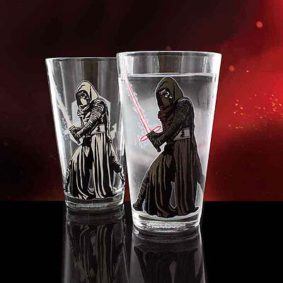 Official Star Wars Episode VII Kylo Ren Colour Change Beer Soda Glass - Boxed