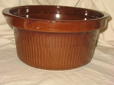 """Vintage Western Brownware Old Monmouth Pottery Stoneware Soup Pot 12"""" LARGE"""