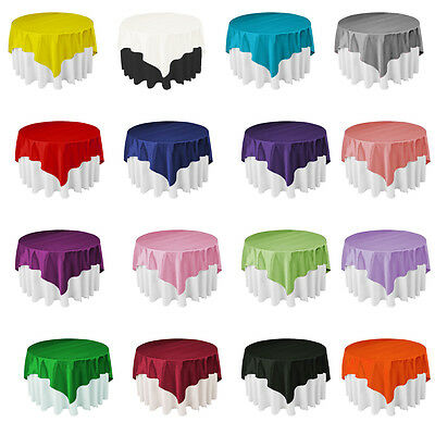 "57x57"" Satin Tablecloth Table Cover For Wedding Party Restaurant Banquet Decor"