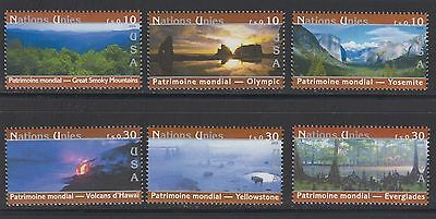 UNO Genf postfrisch ** 475-480 USA Nationalparks