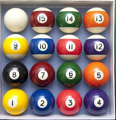 "SPOTS AND STRIPES PROFESSIONAL SET OF POOL BALLS TABLE 2"" match quality pub club"