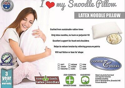 Snoodle Latex Noodles Pillow 3 Year Guarantee Natural Latex Softer Than Shredded