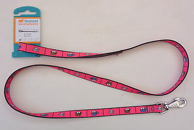 Ferplast Fantasia C15/110 Clip On Dog Lead Red With Pirate Pets Canine Training