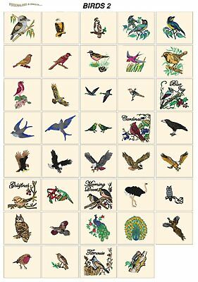 BIRDS 2. CD or USB machine embroidery designs files most formats animals
