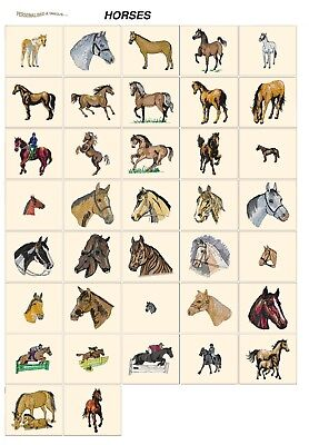 HORSES. CD or USB machine embroidery designs files most formats equestrial