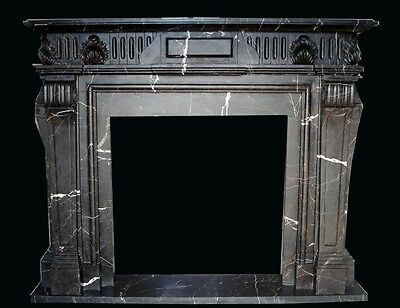 Beautiful Hand Carved Marble Fireplace Mantel Tle6