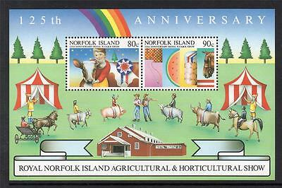 Norfolk Island Mnh Ms373 125Th Anv Royal Agricultural &  Horticultural Show M/s