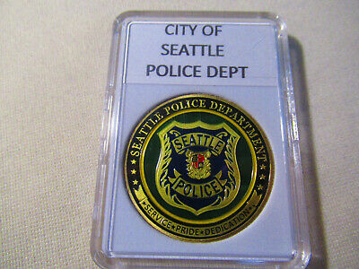 CITY OF SEATTLE, WA. Police Dept. Challenge Coin