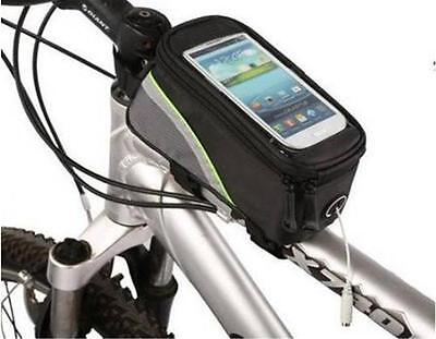 Waterproof Bag Cycling Bicycle Frame Front Tube Phone Cellphone Pouch Pannier