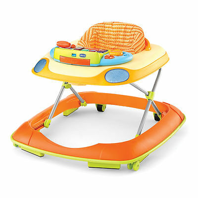 Chicco Dance Walker Baby Activity Center with MP3 Hook Ups, Happy Orange