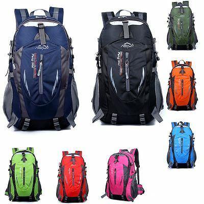 Large 40L Travel Rucksack Outdoor Waterproof Hiking Camping Bag Luggage Backpack