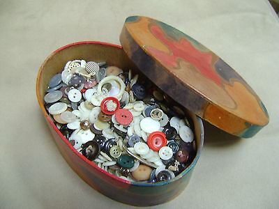 Collection of Mixed Vintage Sewing Buttons.