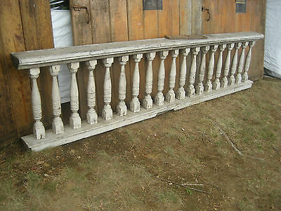 "c1880 VICTORIAN balustrade RAILING section GORGEOUS lines 109"" x 26.5"" x 7.5"""