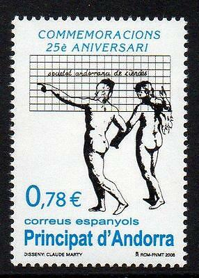 ANDORRA (SPAIN) MNH 2008 25th Anniversary of the Andorran Sciences Society