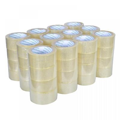 "48 Rolls Box Carton Sealing Packing Packaging Tape 2""x110 Yards(330' ft) Clear"