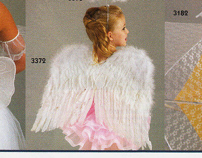 NWT Lot of 3 White Feather Angel Wings  Feathers on both sides child size