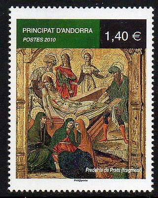 ANDORRA (FRENCH) MNH 2010 Crusification Painting