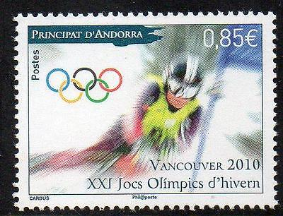 ANDORRA (FRENCH) MNH 2010 Winter Olympic Games - Vancouver, Canada