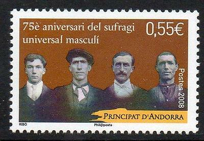 ANDORRA (FRENCH) MNH 2008 Universal Suffrage
