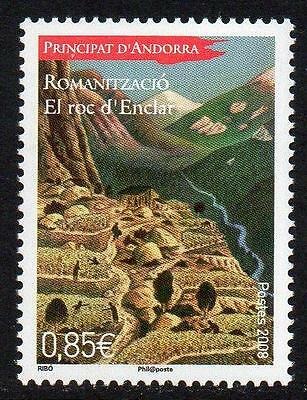 ANDORRA (FRENCH) MNH 2008 Geographical History - El Roc d'Enclar