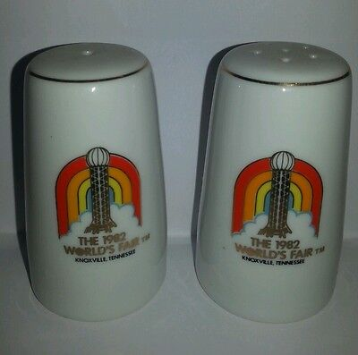 Knoxville Tn 1982 World's Fair Collectible Salt & Pepper Shakers