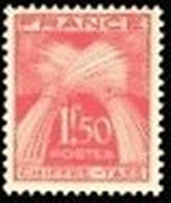 """FRANCE STAMP TIMBRE TAXE N° 71 """" TYPE GERBES 1F50 ROUGE """" NEUF xx TTB"""