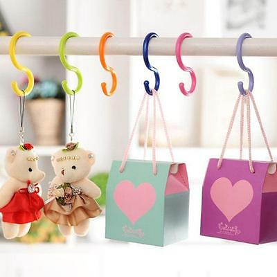 6Pcs Kitchen Candy-colored Multi-purpose Stroller S-type Hook Holder Hanger YZ