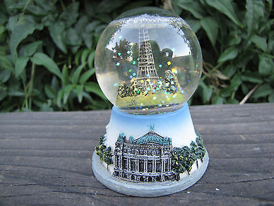 "Paris Snow Globe Eiffel Tower with defect  (2.5"")"