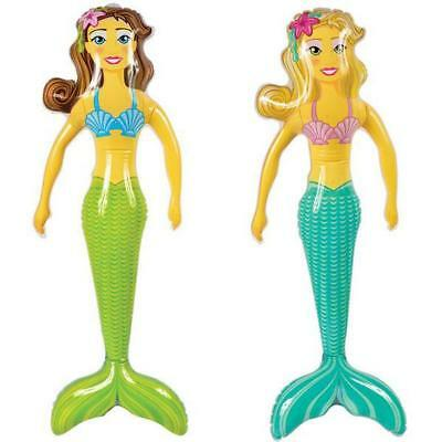 """36"""" Giant Inflatable Mermaid Women Sea Animal Kids Party Blow Up Toy Cool Gift"""