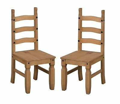 Mercers Furniture® Corona Mexican Pine Dining Chair Pair Set of 2