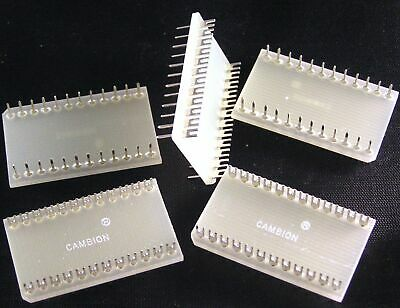 Cambion 24 Pin DIL Header Plug With Slotted Solder Turrets 5 Pieces OMA088C