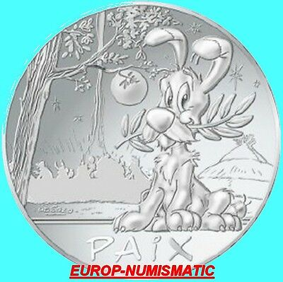 """Frankreich 2015  50 Euro Asterix """" Friede /  Idefix """"  2.serie   Ab Lager"""