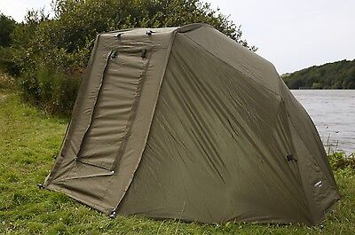 """Cyprinus 60"""" Oval Brolly System for Carp Fishing + Overwrap + Accessories"""
