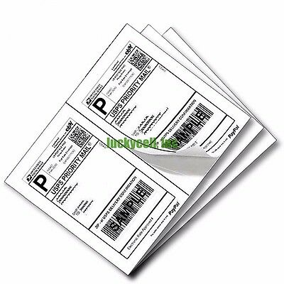 """1000 Self Adhesive Mailing Shipping Labels 8.5""""x5.5"""" Paypal eBay USPS UPS FedEx"""