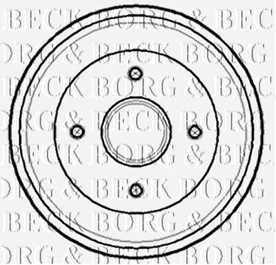 To Clear New Borg & Beck - Rear - Brake Drum ( X1) - Bbr7141