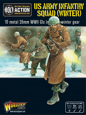 Warlord Bolt Action BNIB US Army Infantry Squad in Winter Clothing WGB-AI-07