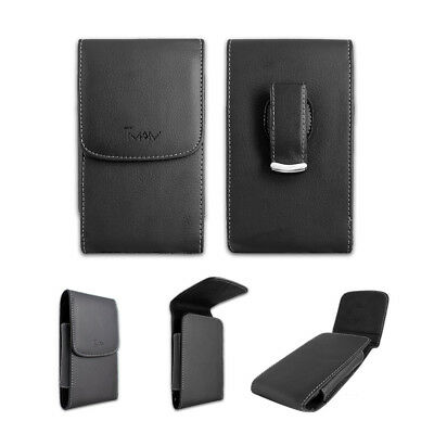 Black Leather Case Pouch Holster with Belt Clip for Verizon LG Revere 3 VN170