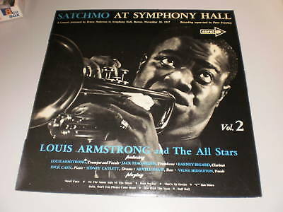 Louis Amstrong - Satchmo At Symphony Hall - Vol 2 - Coral Cops 1952 - Lp