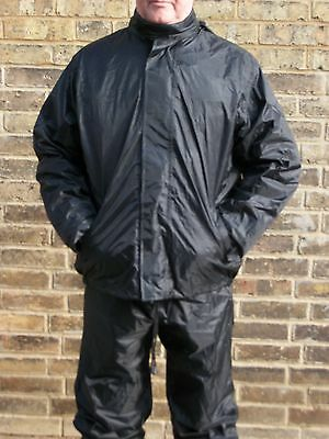 Waterproof Raincoat Rain Wear Over Jacket Motorbike Motorcycle Bike Black 38