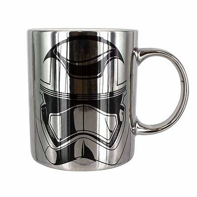 Official Star Wars Episode VII Captain Phasma Chrome Plated Coffee Mug - Boxed