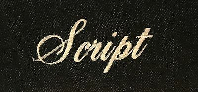 Custom Personalization Embroidery - Script Letters