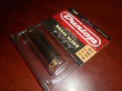 NEW - Dunlop No. 222 Medium Wall Solid Brass Guitar Slide