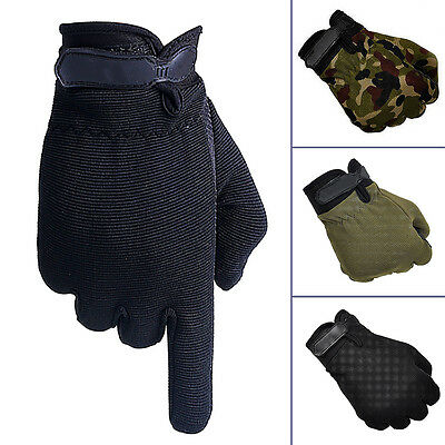 NICE Men Military Tactical Airsoft Shooting Hunting Full Finger Gloves 3 Size