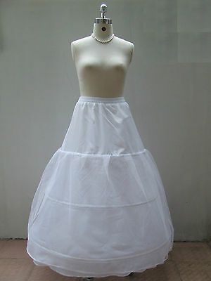 Stock New Wedding Prom Ball Dress 3-HOOP Crinoline Petticoat Under Skirt