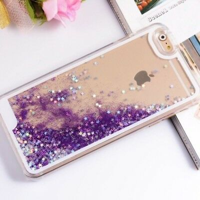 Liquid Glitter Water Sparkly Stars Bling Case Cover for iPhone 4 5 5C 6