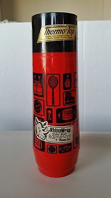 Vintage RhinoWrap Thermo Serv Plastic Red Sports Thermos