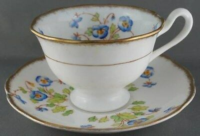 Vintage Royal Albert Blue Pansy Cup & Saucer Pattern 8552 Cir1935