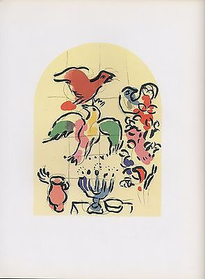 "1988 Vintage MARC CHAGALL /""TRIBE OF ASHER/"" SMALL MODEL COLOR Print Lithograph"