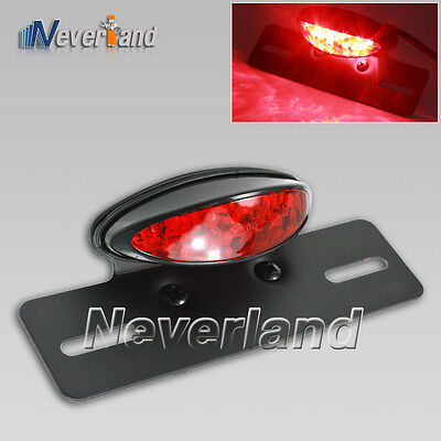 Motorcycle LED Brake License Plate Stop Tail Lights for Harley Davidson Choppers